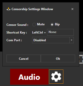 Censorship Settings Window