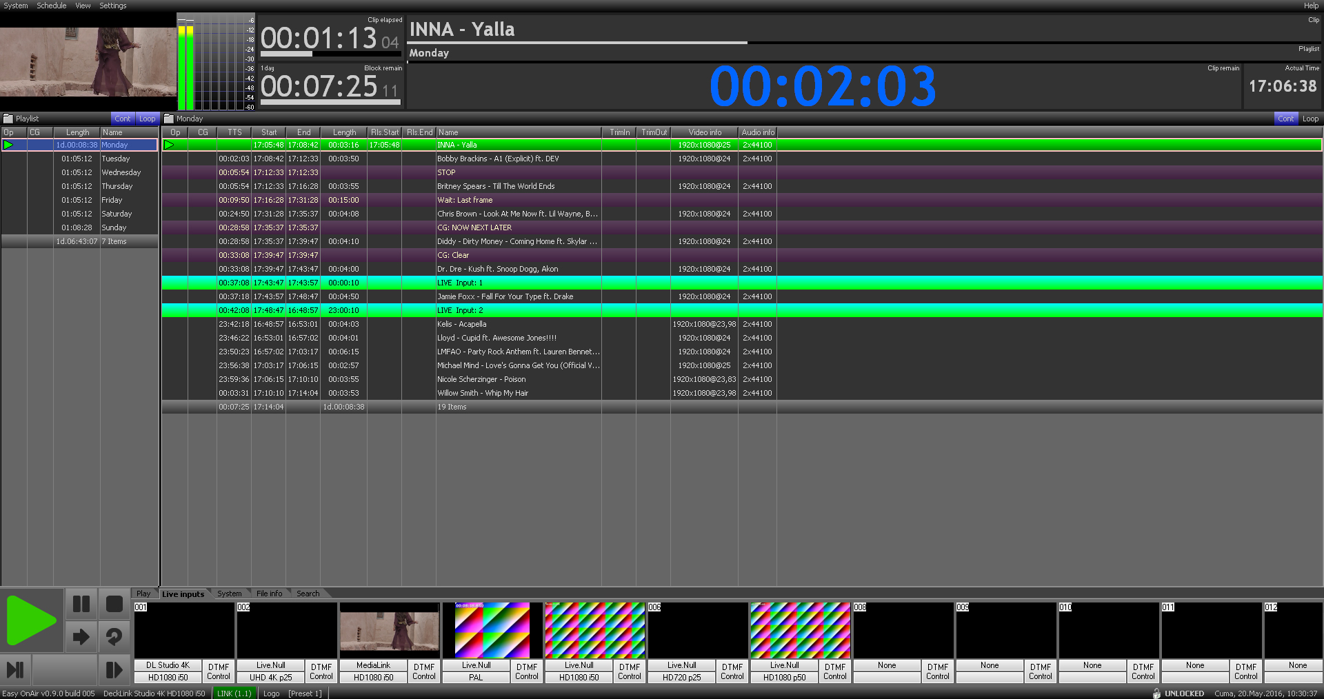 Advanced Playout (SD/HD/4K/IP)